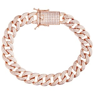 925 Zilveren Iced Out Miami Cuban Link Armband 12 MM R